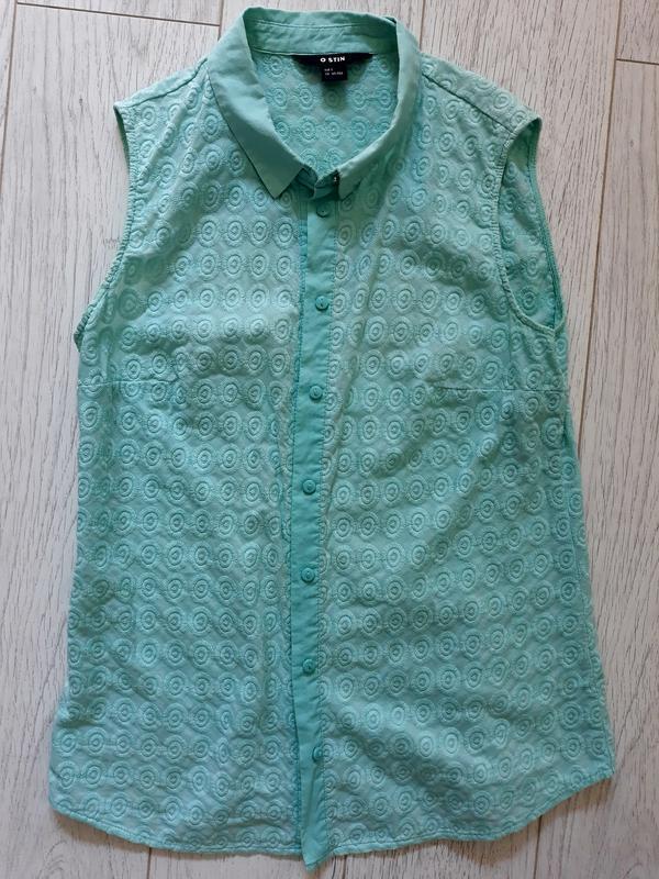 Рубашка , блуза без рукавов