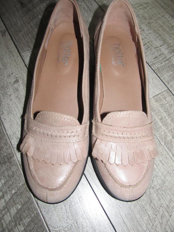 Кожаные туфли hotter  р. 39 - 25,5см