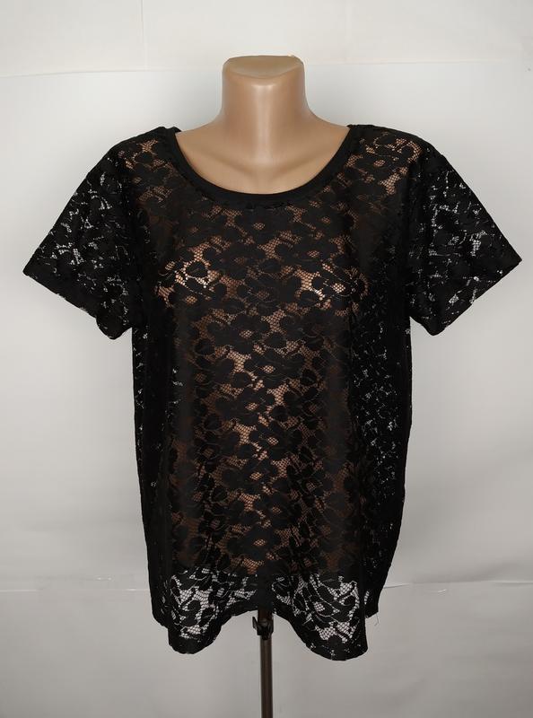 Блуза топ стильная кружевная h&m uk 10/38/s