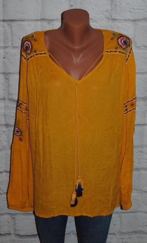 """Блуза с вышивкой """"papaya"""""""