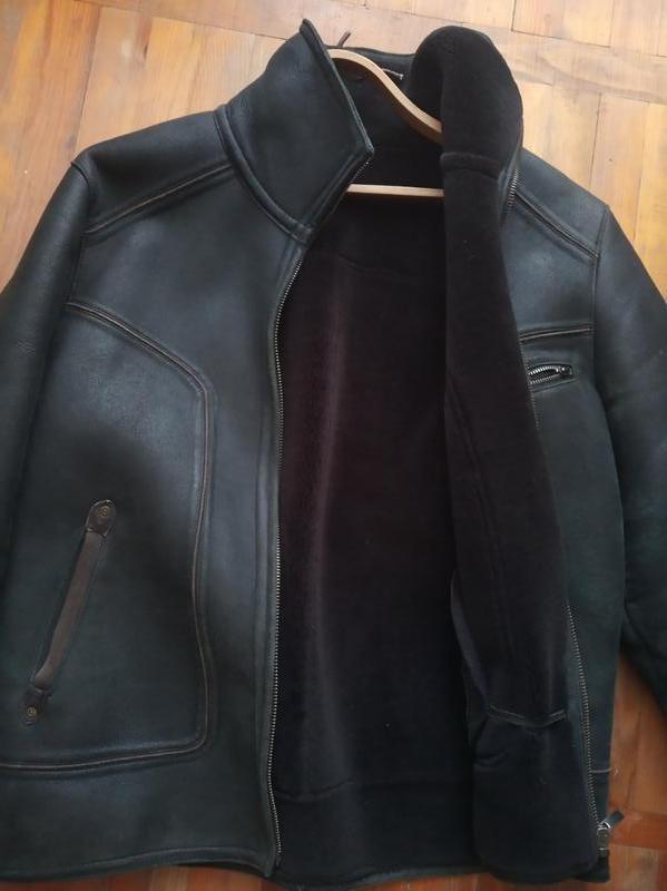 Дубленка-куртка зимняя кожанная.Р 50-52. - Фото 2
