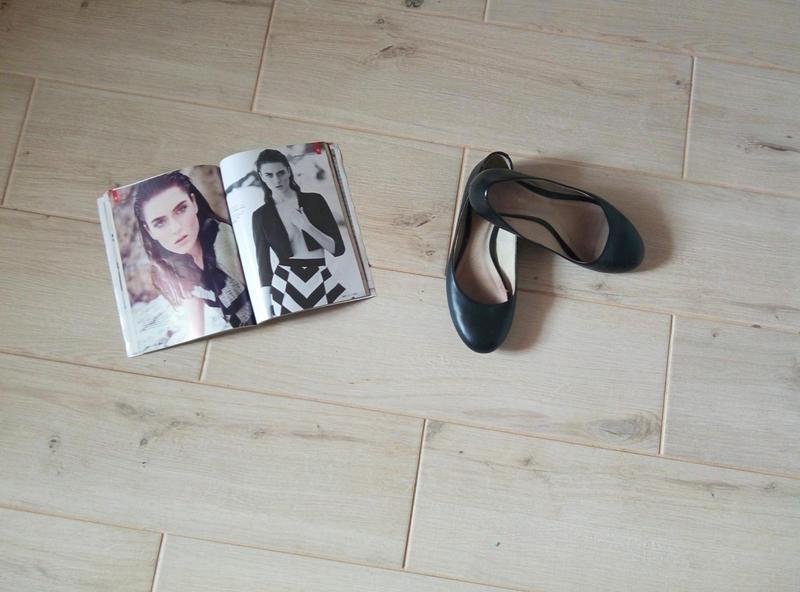 Черные кожаные балетки туфли