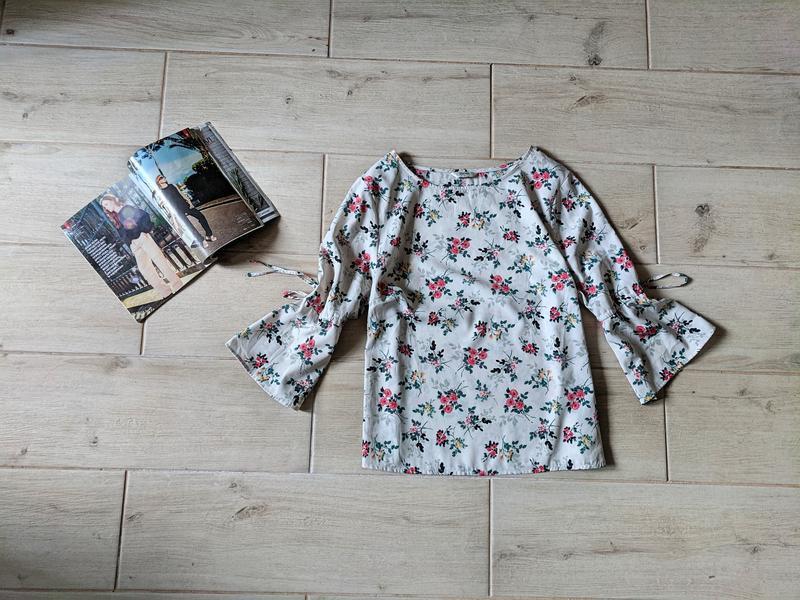 Нежная блуза блузка в цветочный принт l xl