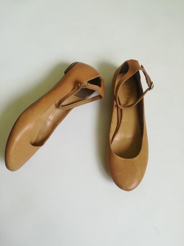 Кожаные балетки - Фото 2