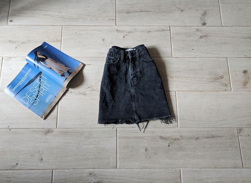 Красивая джинсовая юбка прямая
