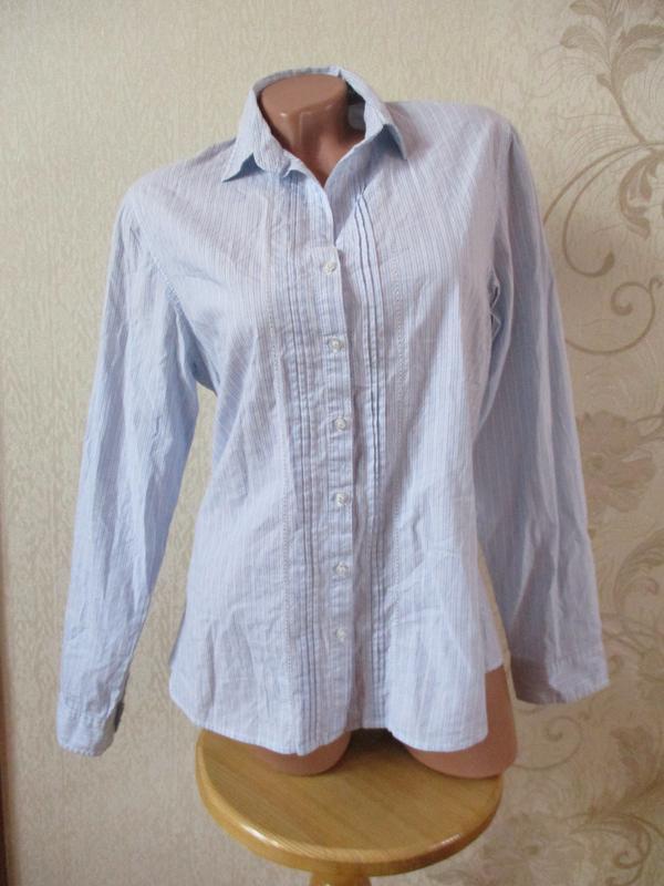 Рубашка хлопковая/базовая/в вертикальную полоску/хлопок