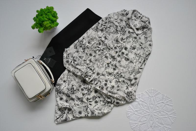 Блуза подовжена в принт квіти primark