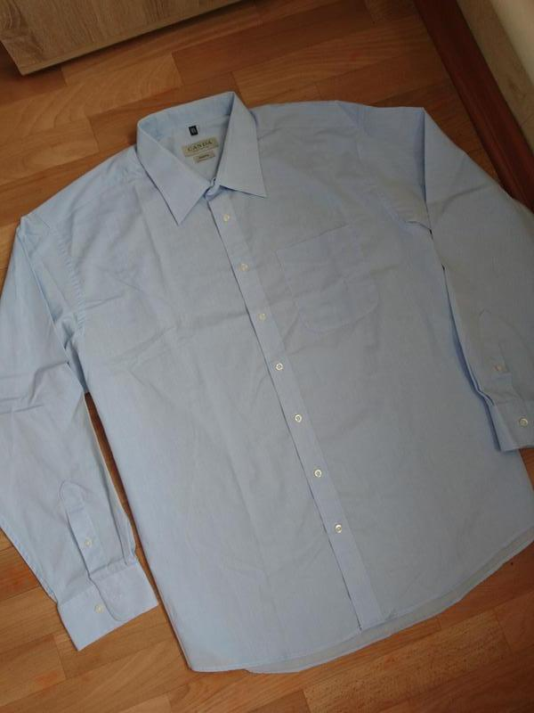 Мужская рубашка голубого цвета c&a 45/46