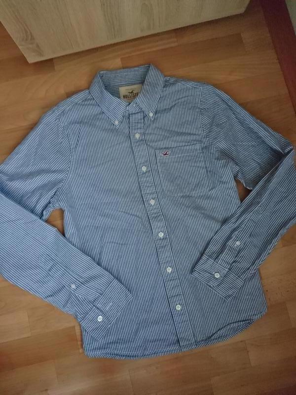 Рубашка мужская полосатая hollister