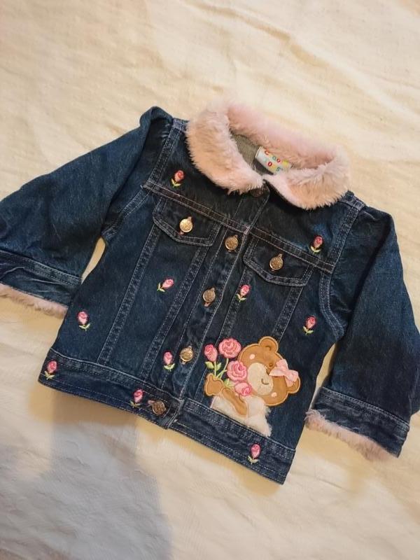 Шикарная джинсовая курточка на малышку