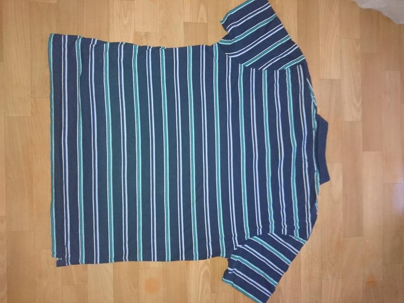 Полосатая мужская футболка поло - Фото 5