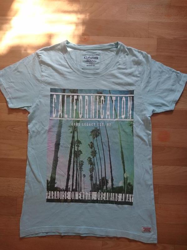 Светло голубая мужская футболка