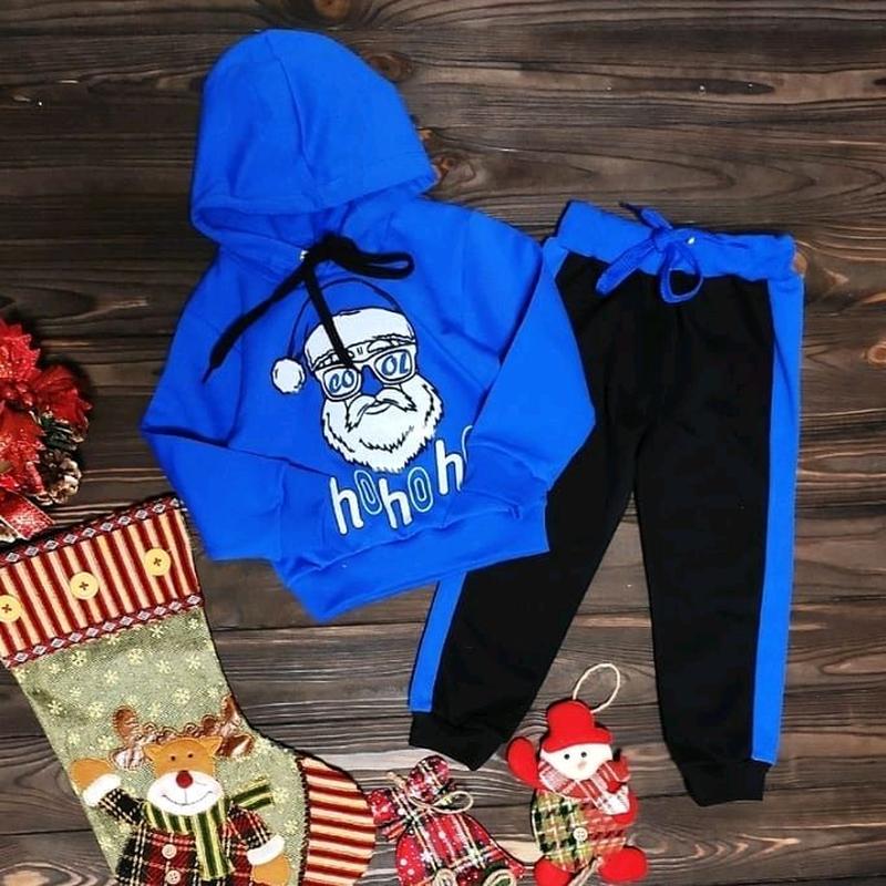 Детский стильный костюм с начесом Дед Мороз - Фото 2