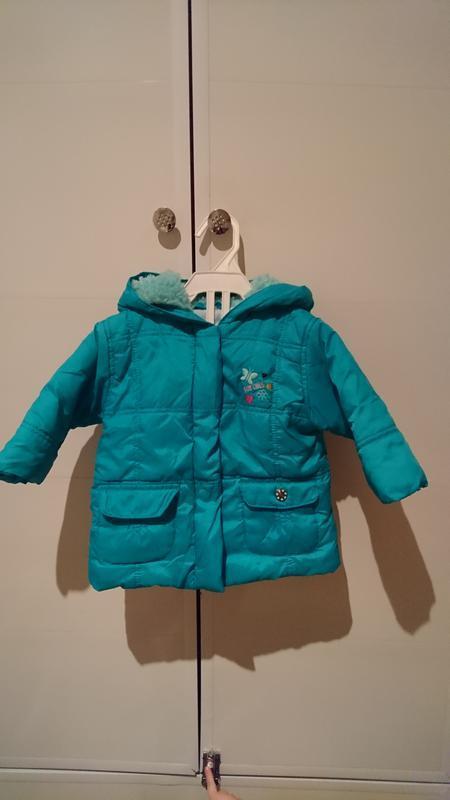 Классная бирюзовая курточка для девочки