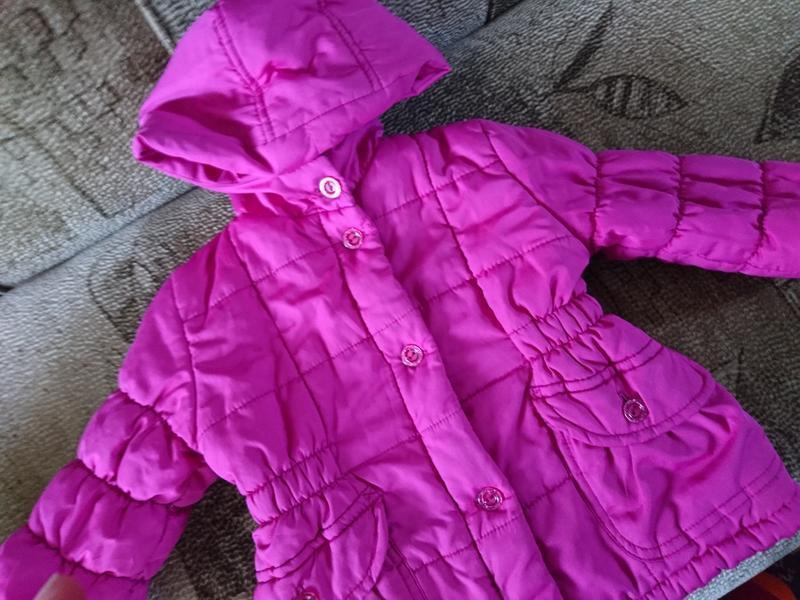 Курточка розовая детская