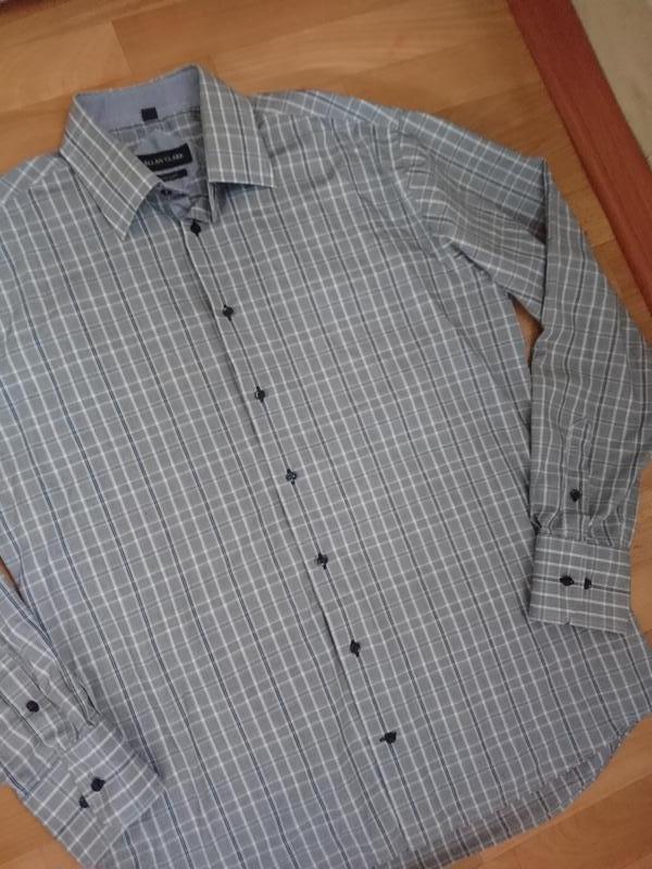 Клетчатая мужская рубашка l/xl