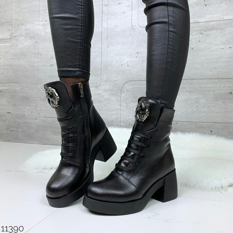 Ботиночки высокие из натуральной кожи зима