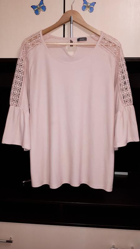 Шикарная нарядная кофточка-блузка с кружевом раз.xl-xxl