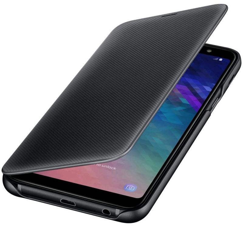Оригинальный чехол Wallet Cover Black для Samsung Galaxy A6 Plus