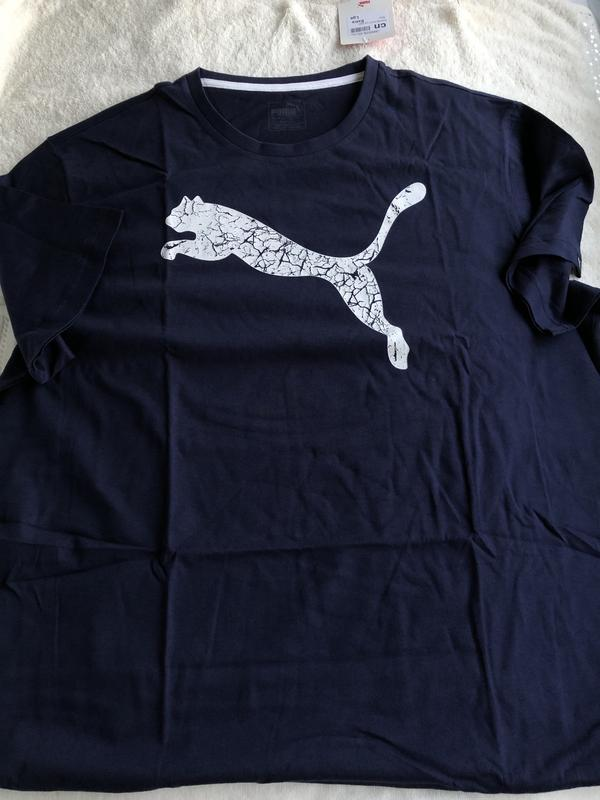 Синяя мужская футболка новая puma