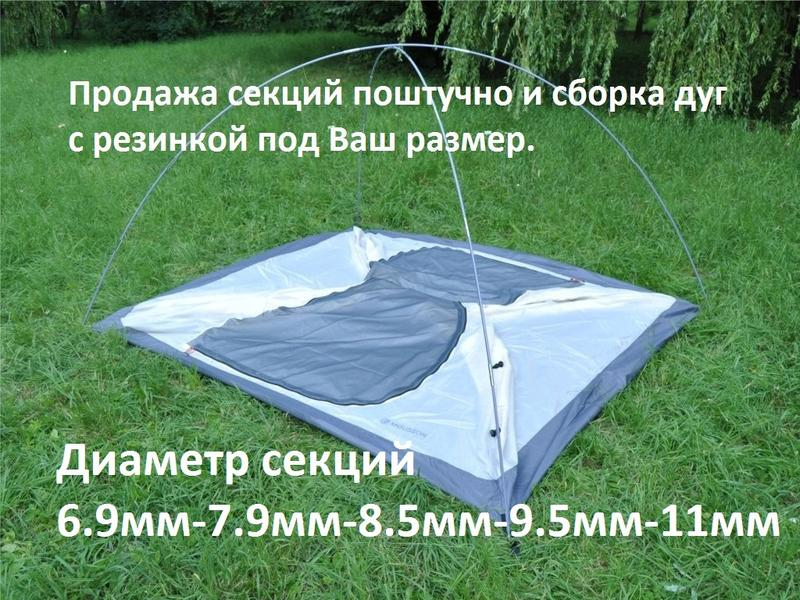 Секции-дуги диаметр 7.9мм для палатки. - Фото 2