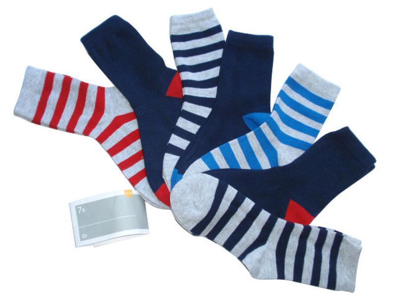 Набор 7 пар неделька носки детские хлопок c&a германия р. 31-3...
