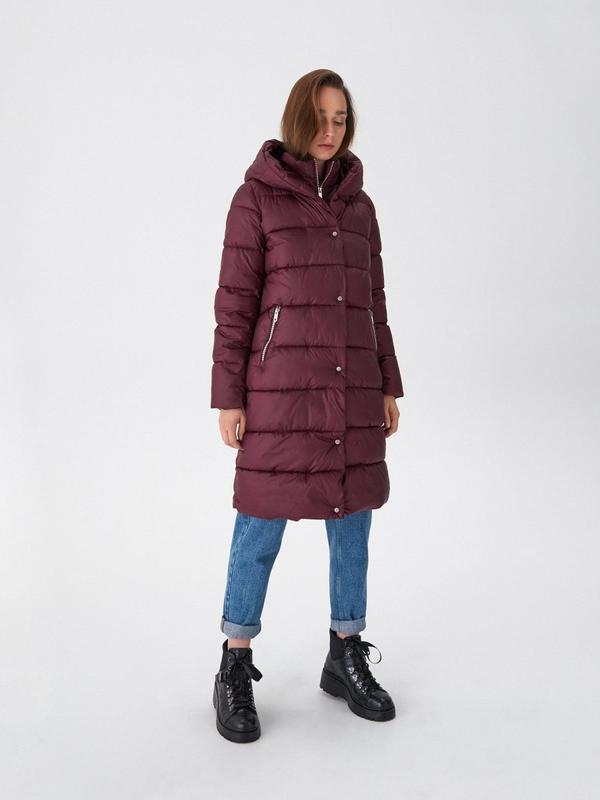 Продам новую женскую зимнюю тёплую куртку пуховик с капюшоном