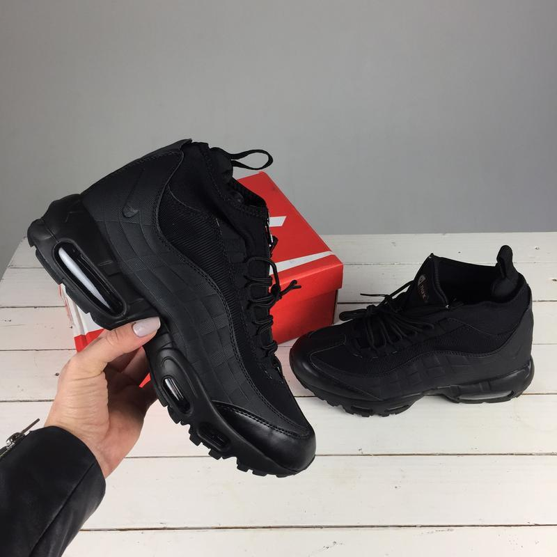 Зимние кроссовки nike air max sneakerboot 95 black (арт.11333)