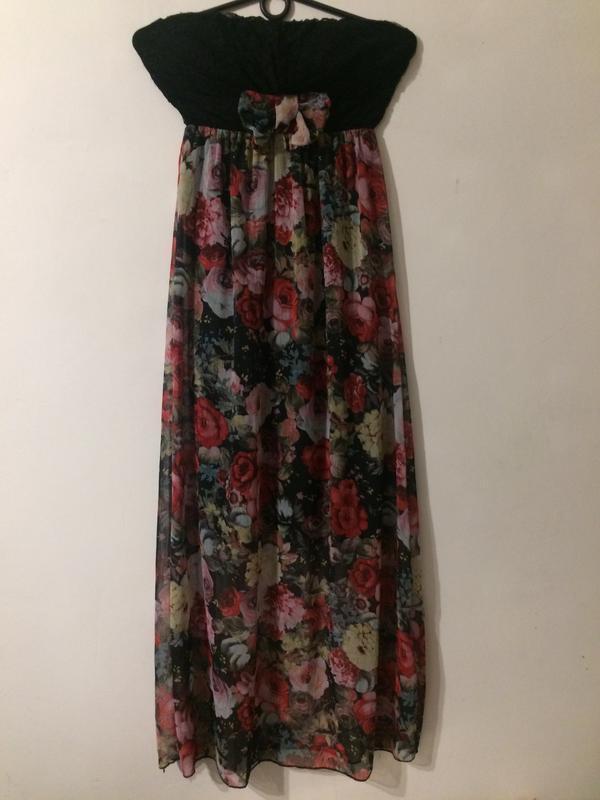 Сарафан платье сукня с цветочным принтом