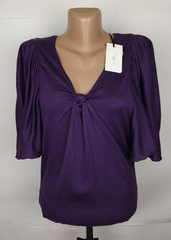 Кофта джемпер новая фиолетовая нарядная new look uk 10/38/s