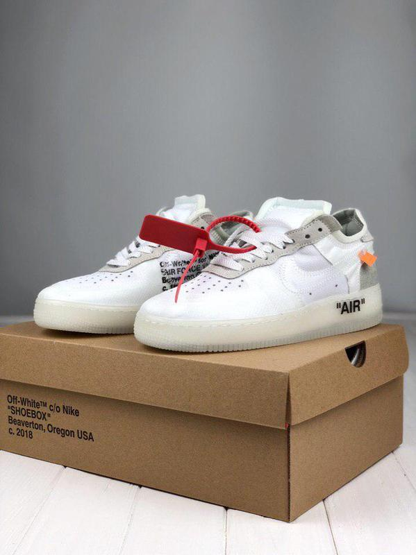 Мужские кроссовки Air Force x Off White low White