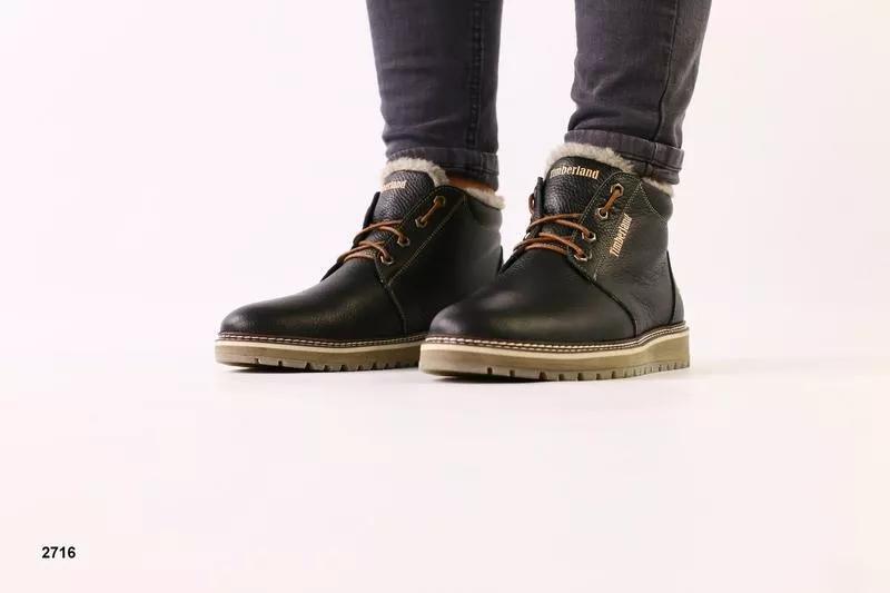 Lux обувь! натуральные зимние ботинки мужские 40-45р