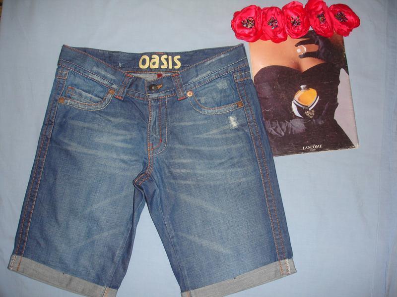Шорты джинсовые женские летние размер 46 /12 средней длины бриджи