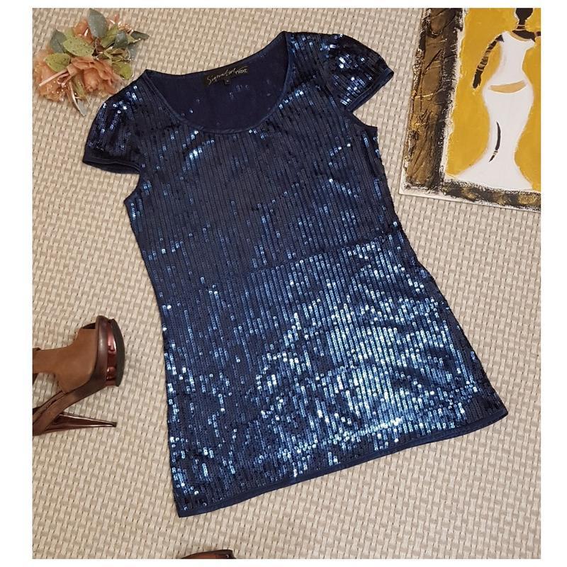 Туника в паетках next, короткое платье