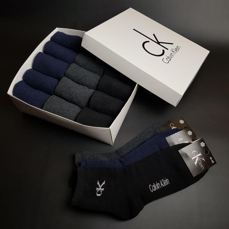 Мужские зимние носки МАХРА - Tommy Hilfiger 15 пар.