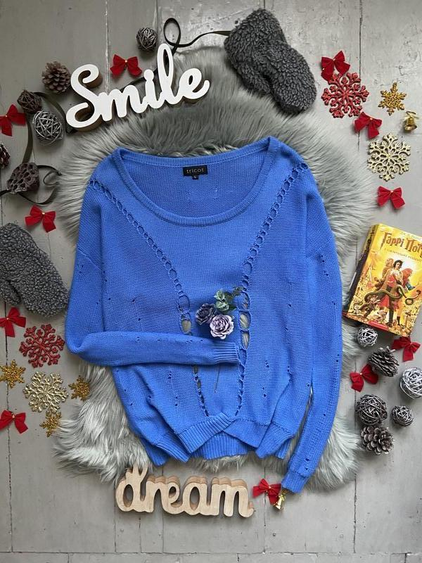 Актуальный свитер оверсайз с рваностями №60max