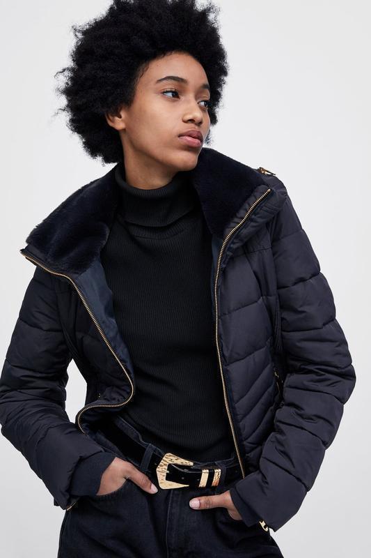 Теплая стеганая куртка, парка zara