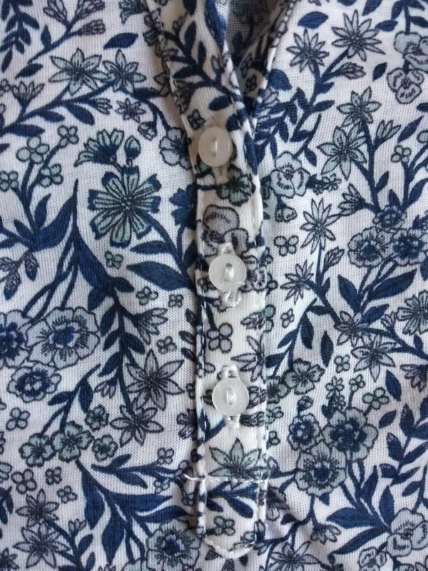 Трикотажная блуза h&m в мелкий принт, свободный крой, молодежн...
