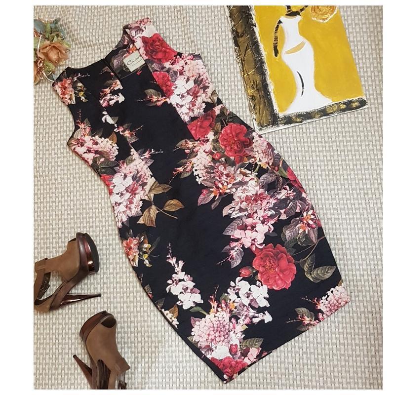 Платье футляр с цветочным принтом ceme london