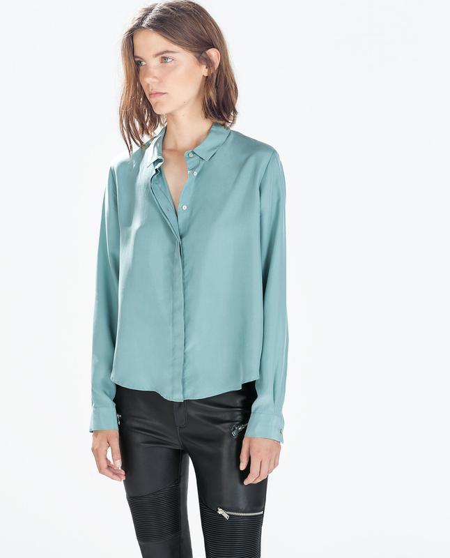 Шелковая блуза zara 100% шелк