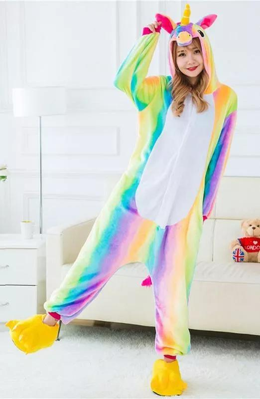 Пижама кигуруми «единорог радужный»