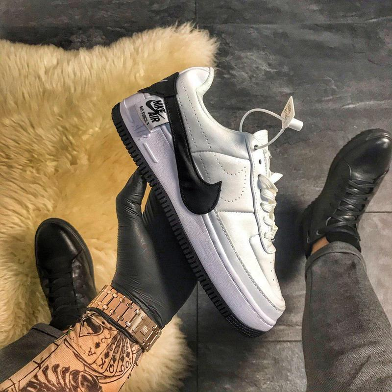 Женские кроссовки/кеды nike air force 1 jester white and black...
