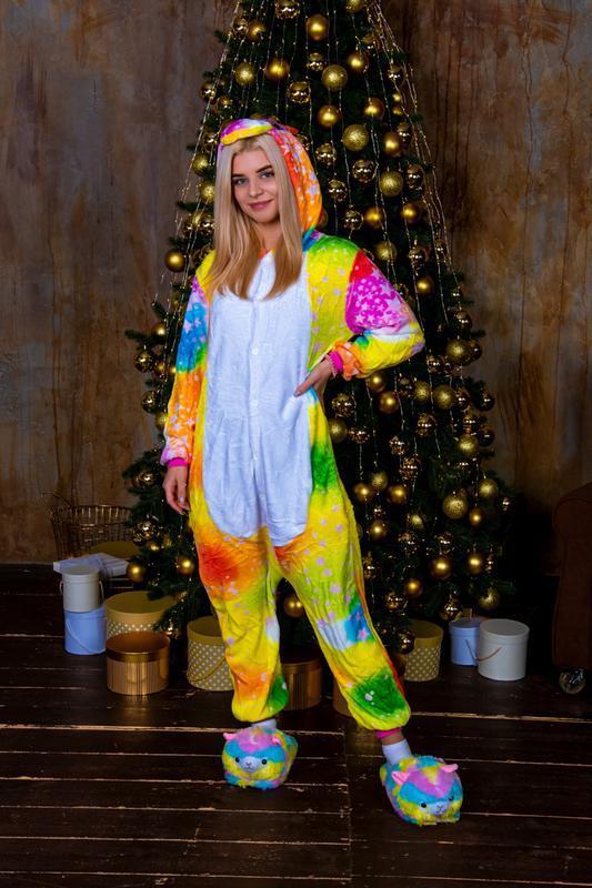 Пижама кигуруми «единорог звездно-радужный»