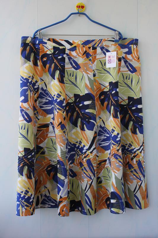 Длинная юбка со льном julipa на 30 размер, батал