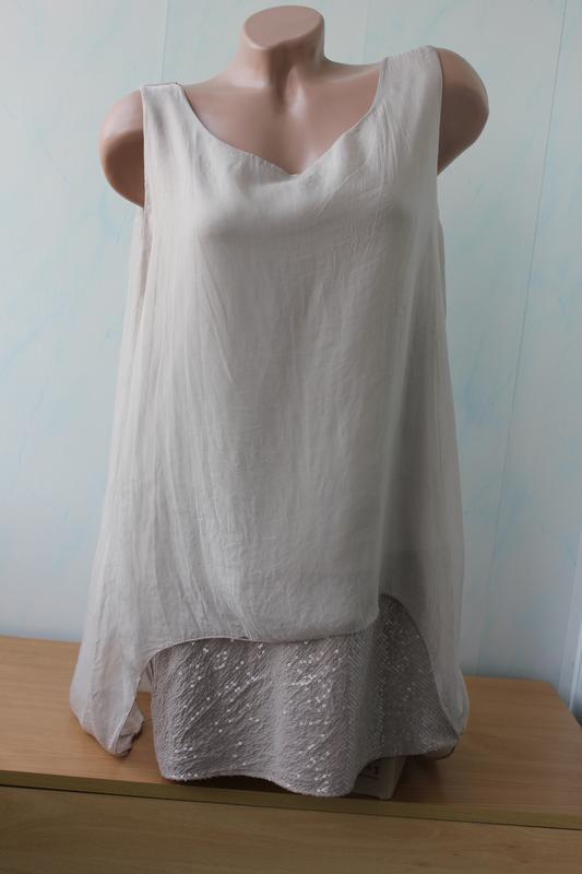 Блуза из натурального шелка, италия