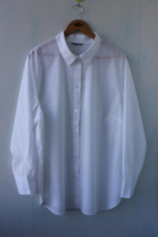 Шикарная белоснежная хлопковая рубашка h&m