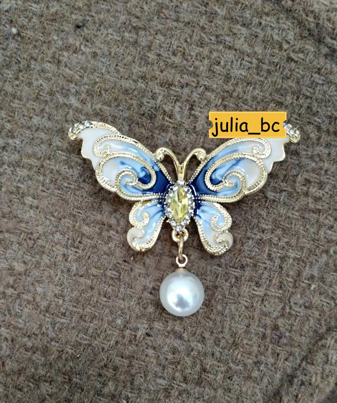 Брошь-подвеска бабочка жемчуг, смотрите больше бижутерии в моих о - Фото 5