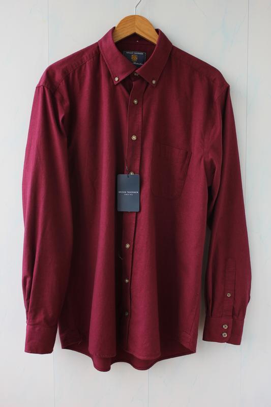 Шикарная мужская рубашка brook taverner, люкс бренд.
