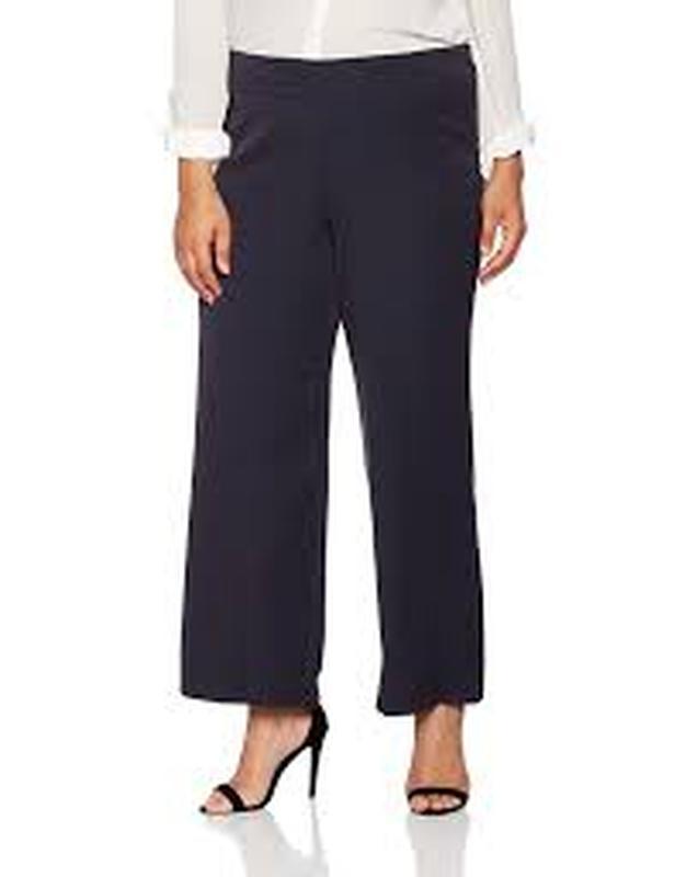 Легкие штаны палаццо с высокой посадкой  эванс