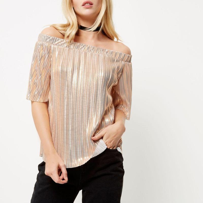 Нарядная блуза с открытыми плечиками river island